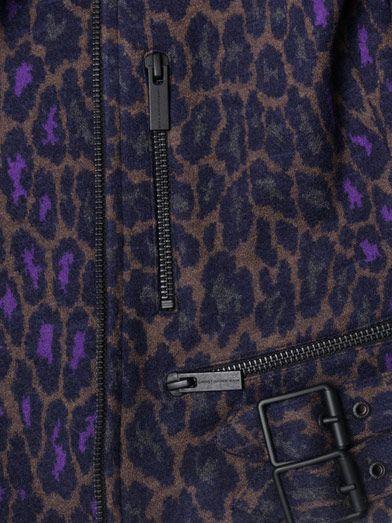 Christopher Kane Leopard print biker jacket