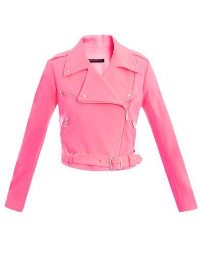 Christopher Kane Crepe biker jacket