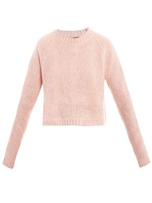 Marl-knit cropped sweater
