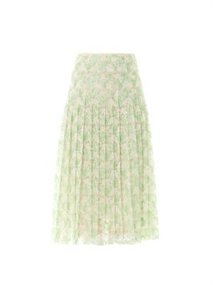 Plasma lace pleat skirt