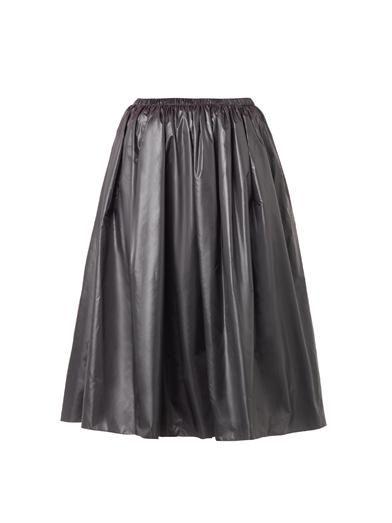 Christopher Kane Ruched-nylon midi skirt