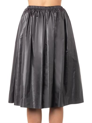 Christopher Kane Ruched-nylon midi skirt