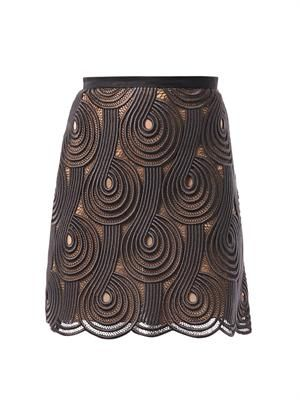 Clef lace mini skirt