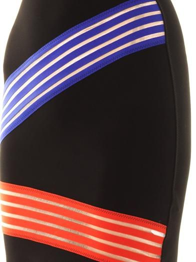 Christopher Kane Cut-out colour block stripe skirt