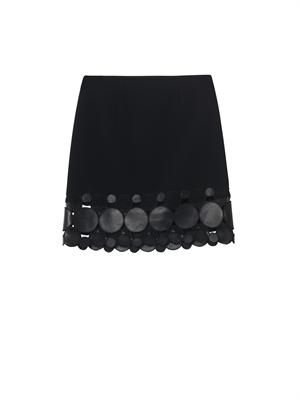 Molecule-hemline stretch-cady skirt