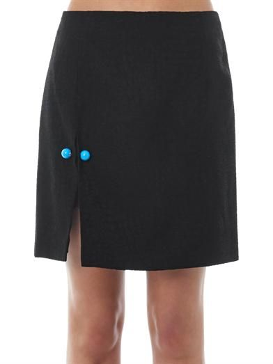 Christopher Kane Snake-jacquard mini skirt