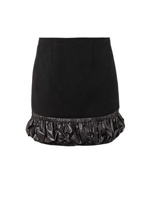 Nylon-trim mini skirt