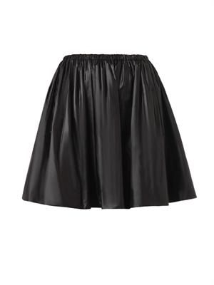 Ruched nylon skirt