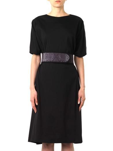 Christopher Kane Belted cotton-blend dress