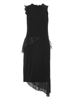 Abstract chiffon-ruffle cady dress