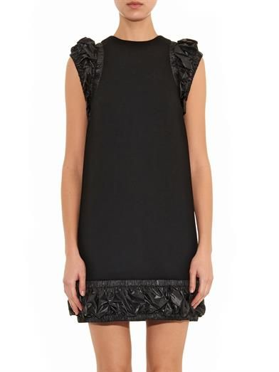 Christopher Kane Ruched-edge crepe and nylon dress