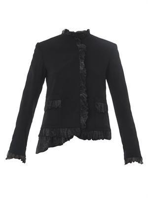 Abstract chiffon-ruffle cady jacket