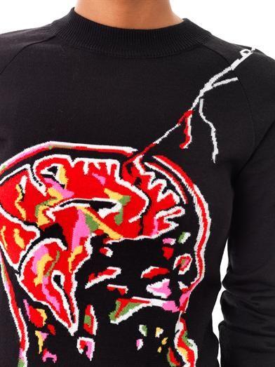 Christopher Kane Brain intarsia-knit sweater