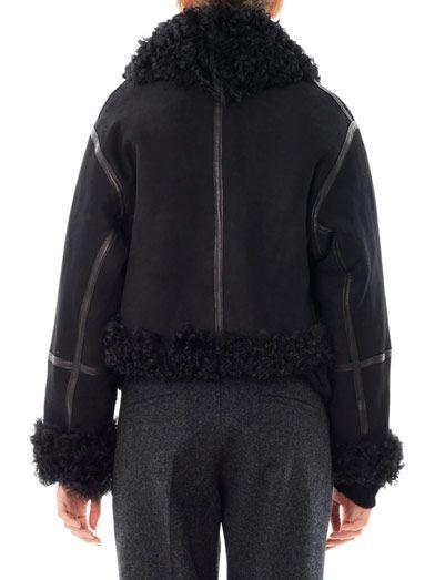 Christopher Kane Cropped shearling bomber jacket