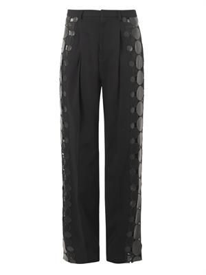 Leather-molecule tailored trousers