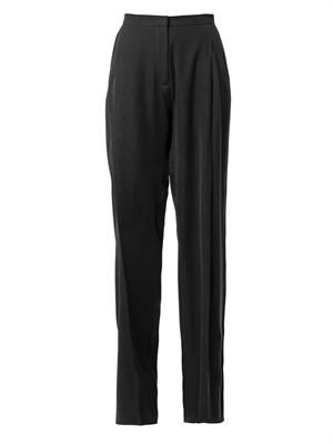 Techno-crepe wide-leg trousers