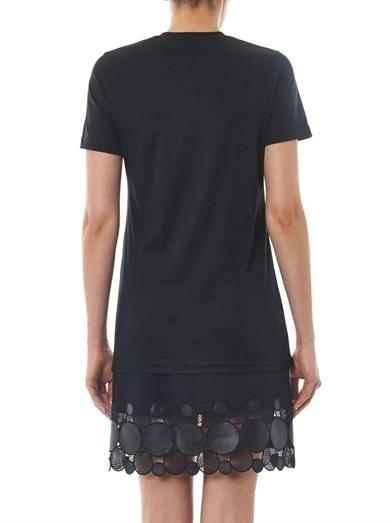 Christopher Kane Snake-print striped T-shirt