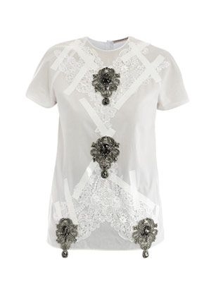 Embellished cotton top