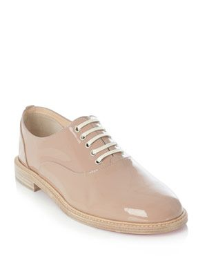 Havana patent leather lace-ups