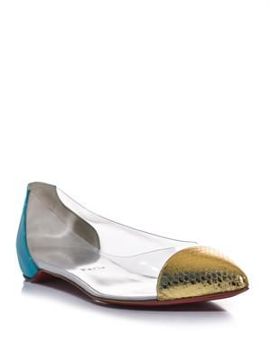 Corbeau Perspex flat shoes