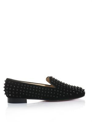 The Rolling Spikes velvet slippers
