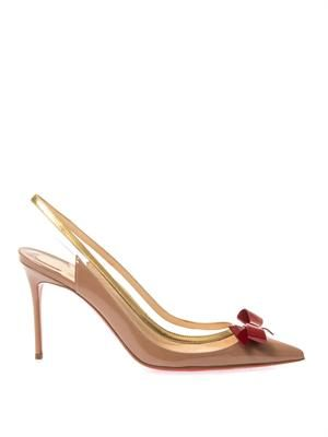 Suspenodo 85mm slingback pumps