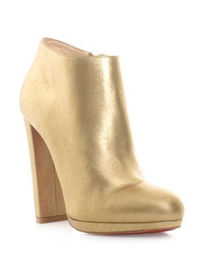 Rock and gold ankle boots
