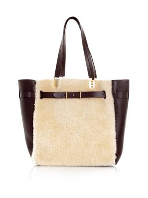 Sybil shearling and leather bag