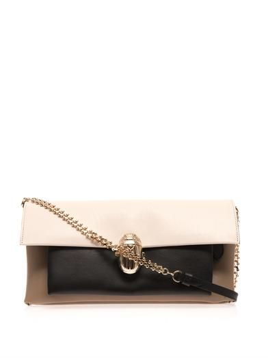 Christian Louboutin Khepira leather clutch