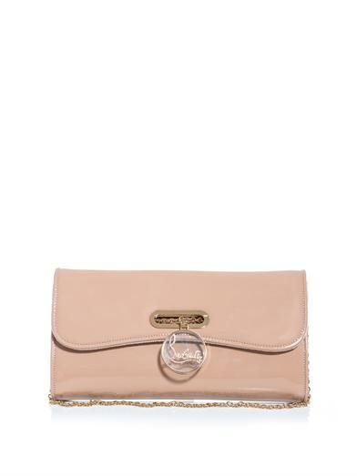 Christian Louboutin Riviera patent leather clutch