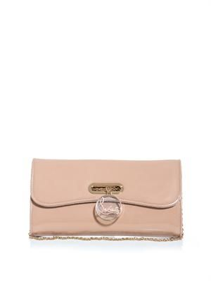 Riviera patent leather clutch