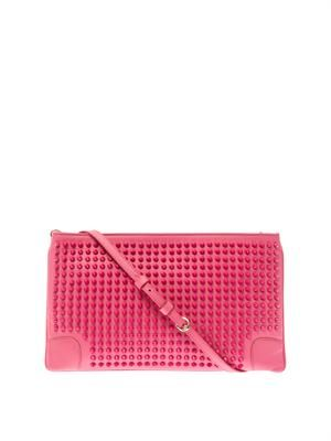 Loubiposh spike leather  clutch