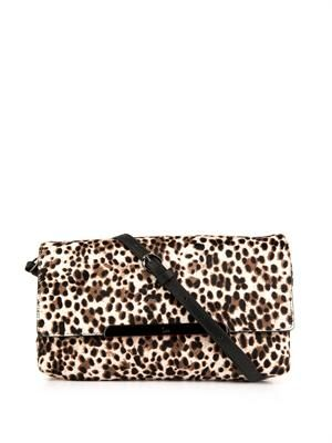 Rougissime calf-hair clutch