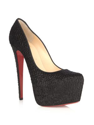 Daffodile 160mm pony skin pumps