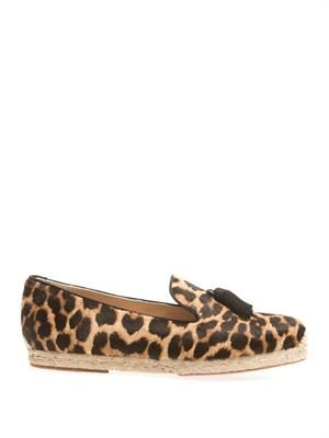 Spanish Cheetah calf-hair espadrilles