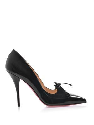Queue de Pie 100mm patent leather pumps