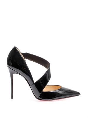 Ograde 100mm patent-leather pumps
