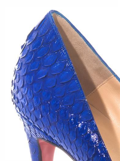 Christian Louboutin Pigalle 100mm python pumps