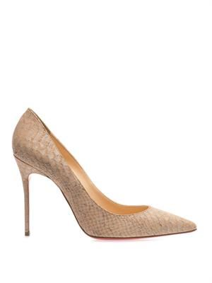 Decollete 100mm embossed-cork pumps