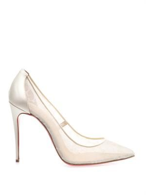 Pigalle 100mm lace pumps