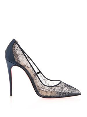 Follies 100mm lace pumps