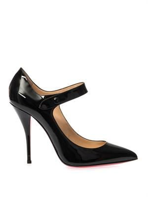 Neo Pensee 100mm patent leather pumps