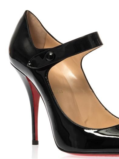 Christian Louboutin Neo Pensee 100mm patent leather pumps