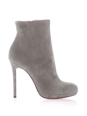 Bootylili 120mm suede ankle boots