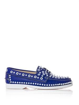 Yacht spiked leather boat shoes