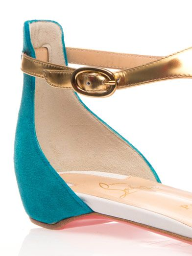 Christian Louboutin Athena leather and suede sandals