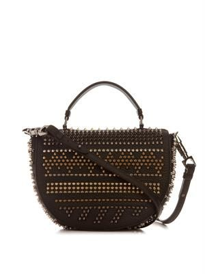 Panettone studded messenger bag