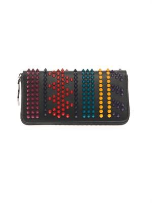 Panettone Spikes leather wallet