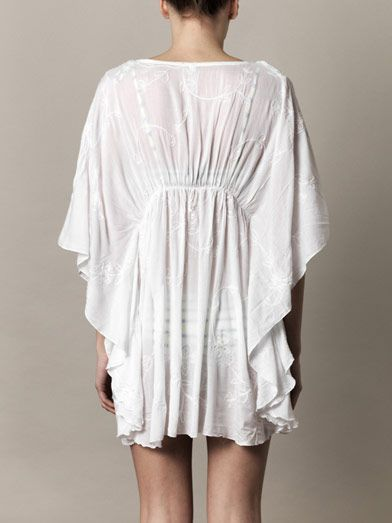 Cool Change Sofie lotus-embroidered kaftan