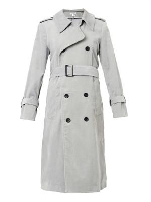 The Oversized corduroy trench coat